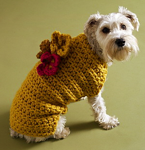 knitted dog coats flower garden dog coat [crochet] JKZZCOZ